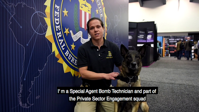 Meet an FBI Bomb Technician and working K-9 at the 2018 RSA Conference