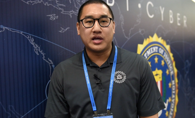 Recruiting seminar at the FBI San Francisco Division booth at the 2018 RSA Conference