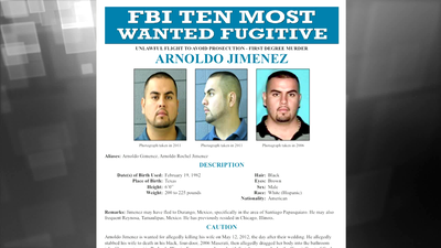 Wanted by the FBI: Arnoldo Jimenez Added to Ten Most Wanted Fugitives List