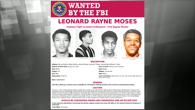 Wanted by the FBI: Leonard Rayne Moses