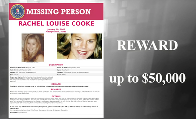 Wanted by the FBI: Missing Woman Rachel Louise Cooke