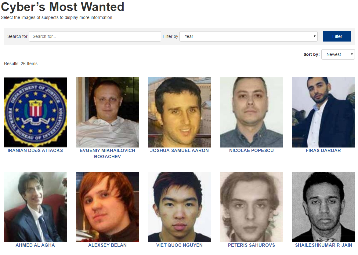 Cybers Most Wanted FBI