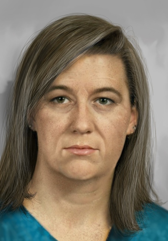 Photograph age progressed in 2018 to age 49