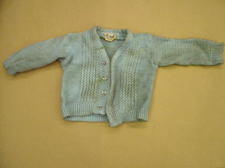 Jones' sweater, not worn when he went missing