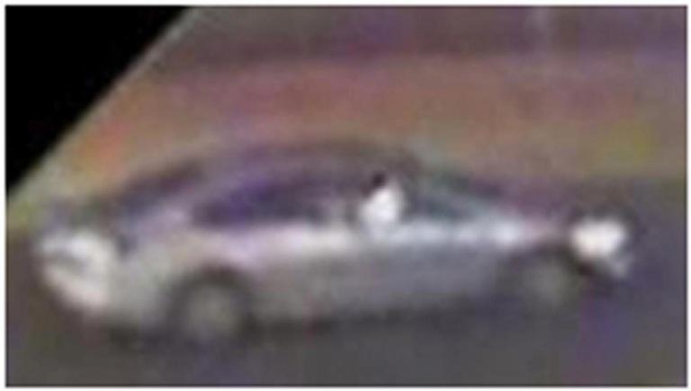 Surveillance photo of suspects' vehicle