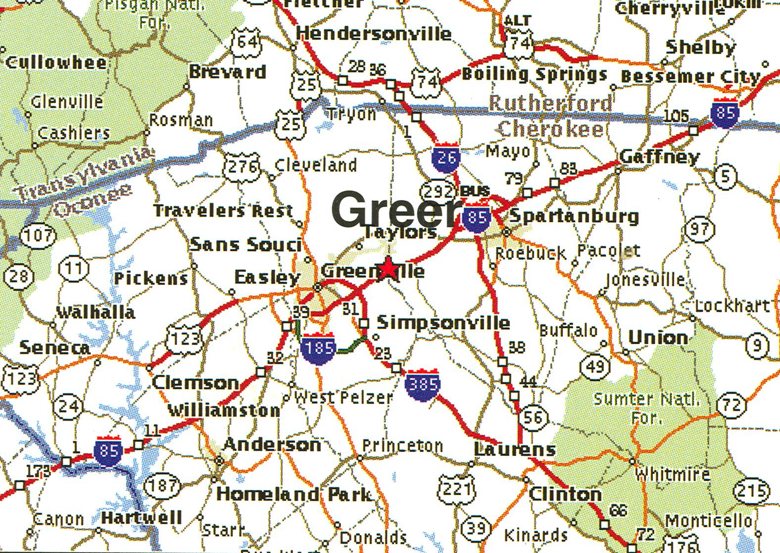 Map Of Greer South Carolina Fbi
