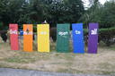 Outdoor display at the United Church of Renton that was defaced by explosives