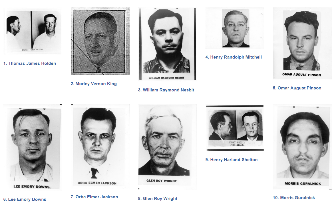 Ten Most Wanted Fugitives 1 to 100 — FBI
