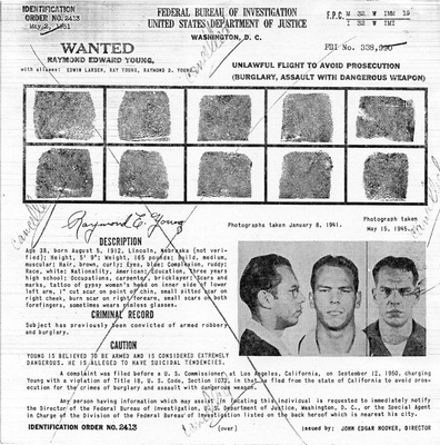 26. Raymond Edward Young Wanted Poster