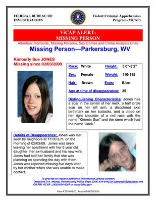 Kimberly Sue Jones    Parkersburg, WV