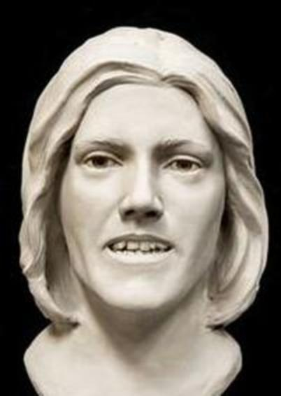 Photo of a composite bust of a missing woman from Sheridan, Wyoming.