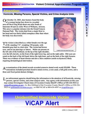 Jane Doe    Coconino County, AZ    2003